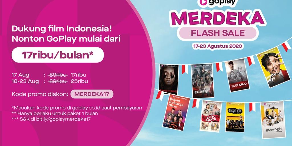 Cinta Film Indonesia Rayakan Dengan Merdeka Flash Sale Dari Goplay Goplay