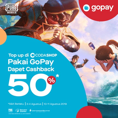 Promo Codashop September 2019: Voucher Cashback 75%! | GO