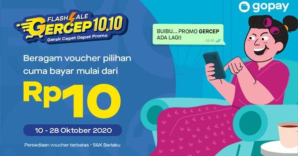 Promo GerCep: Voucher Cashback Rp5.000-Rp100.000 | GoPay