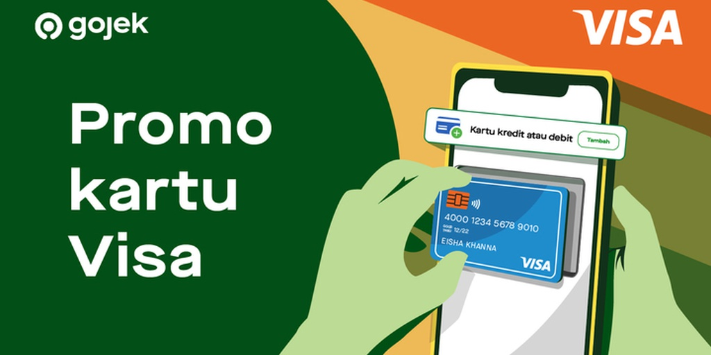 Promo Visa Bonus Voucher Diskon Rp40 000 Rp100 000 Goride Gocar Gobluebird Gojek