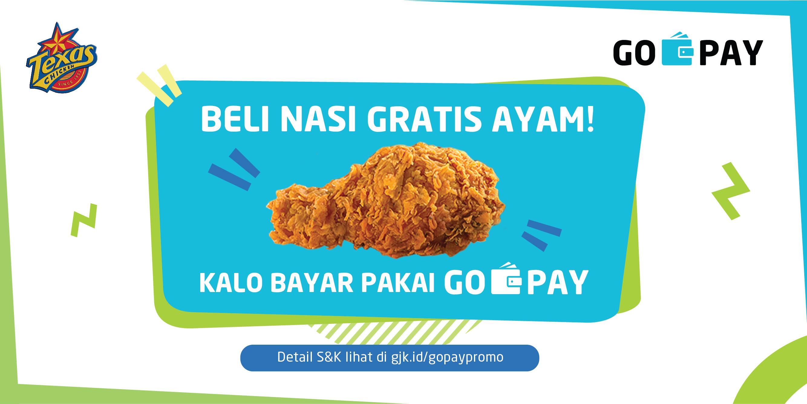 Paket Menu Texas Chicken Indonesia GO-PAY