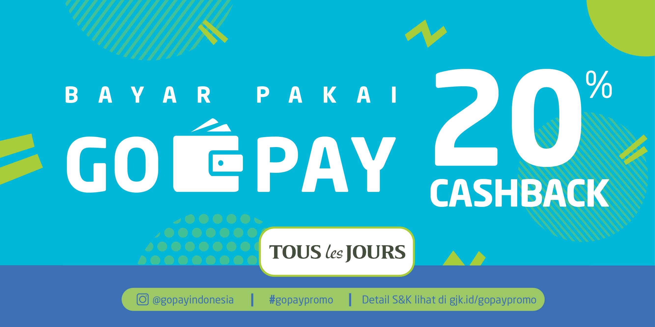 Promo Tous Les Jours Maret 2019: Cashback 20%! | GO-PAY