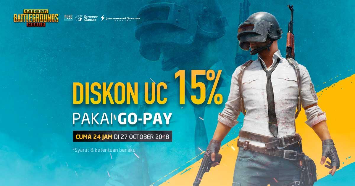 Promo Terbaru Promo Pubg Mobile Oktober 2018 Top Up Uc Pakai Go Pay Murah Dan Dapet Hadiah