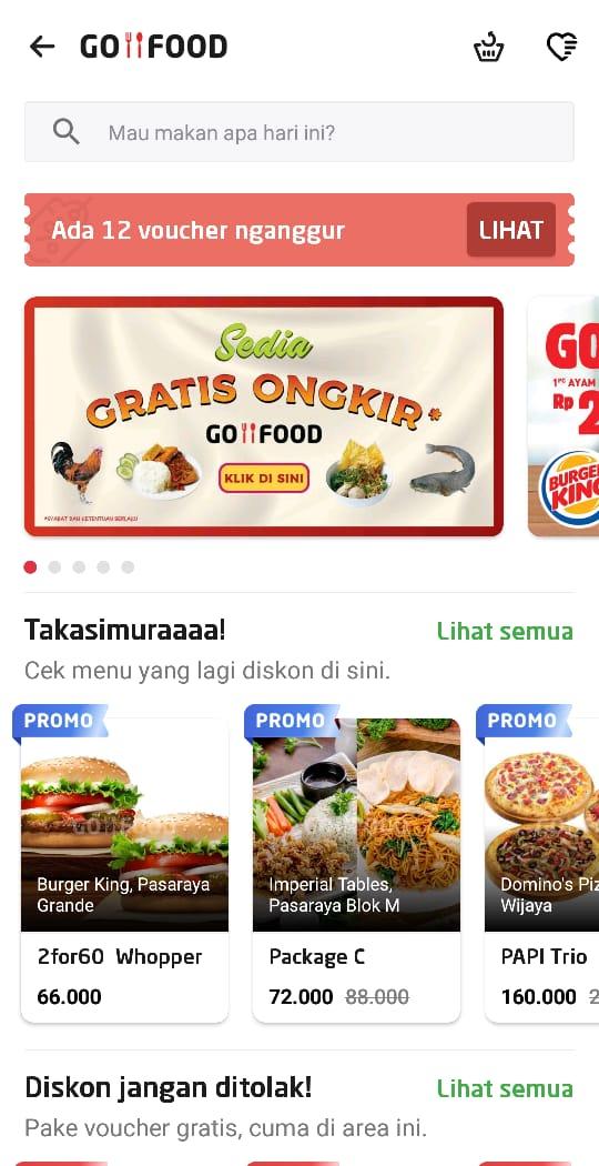 Cara Mendapatkan Voucher Go Food Gofood