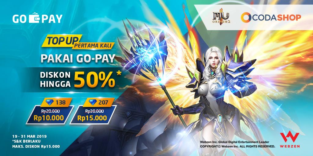 Top Up MU Origin 2 Pakai GO-PAY di Codashop Maret 2019: Diskon