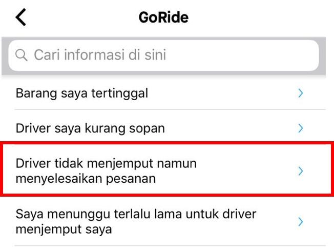 Keluhan Driver Gojek