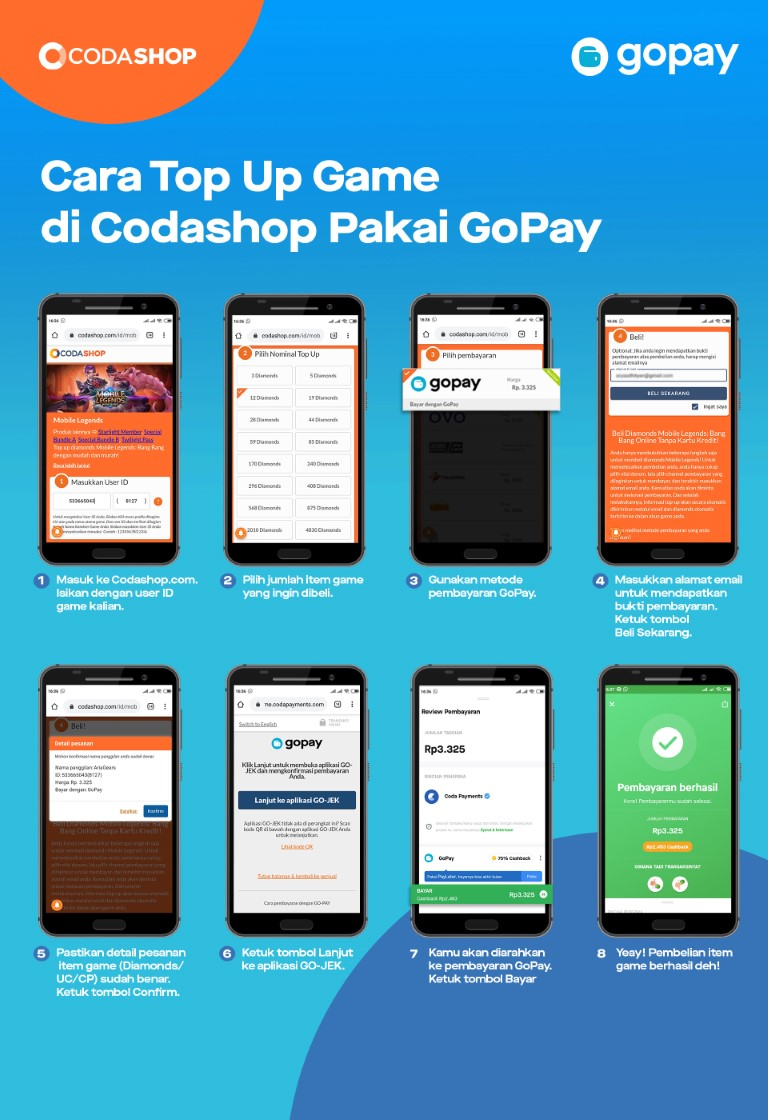 Top Up Game Online Pakai Gopay Gopay