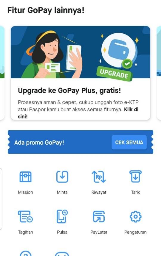 Cara Mudah Upgrade Ke Gopay Plus Gopay