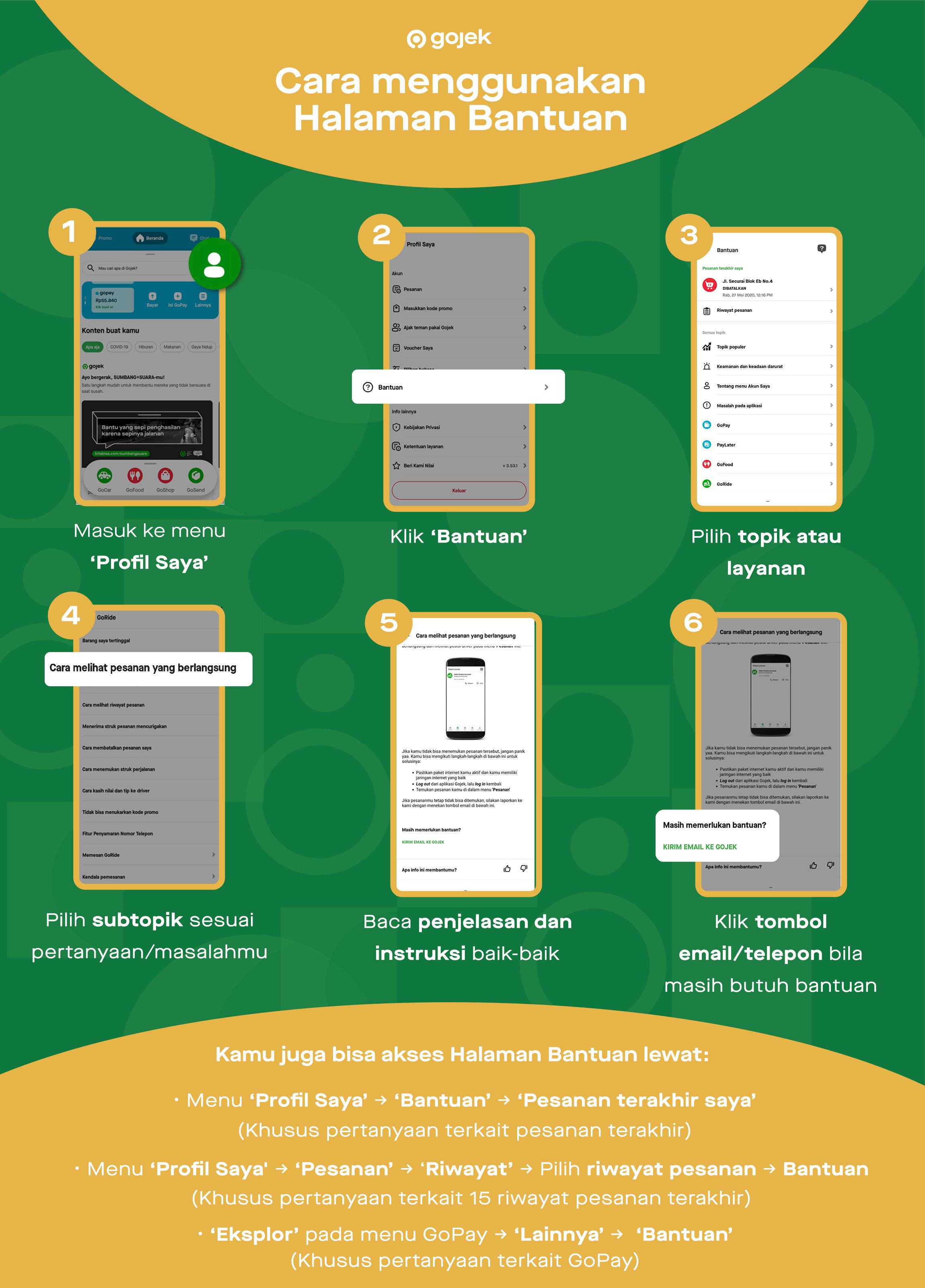 Butuh Bantuan Akses Halaman Bantuan Di Aplikasi Gojek Gojek