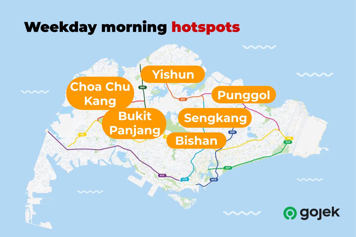 Weekday morning hotspots