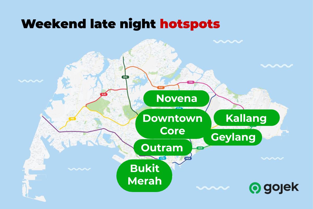 Weekend late night hotspots