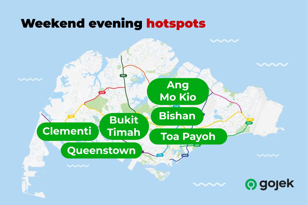 Weekend evening hotspots