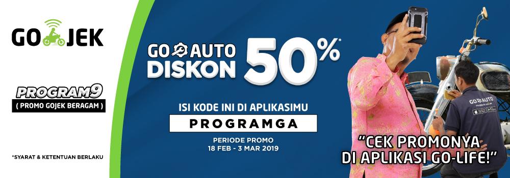 PROGRAM KINCLONGISASI Mobil Motor GO-AUTO 50%