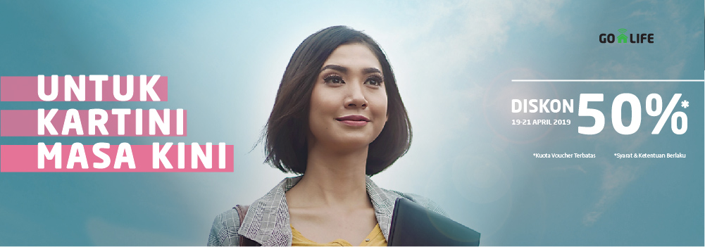 Diskon GO-LIFE 50% Spesial untuk Kartini Masa Kini!