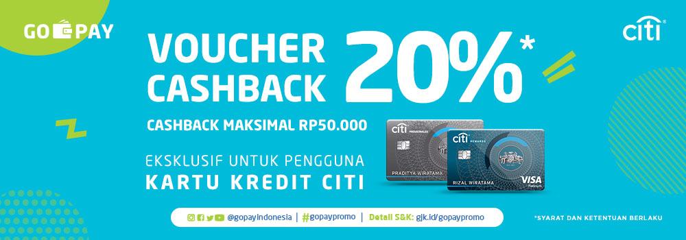Promo Citibank April 2019 Dapatkan Voucher Cashback Go Pay Senilai 20 Gopay