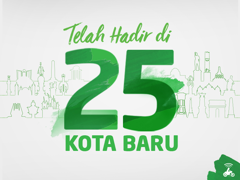 Kini GO-JEK Telah Hadir di 25 Kota Baru di Indonesia