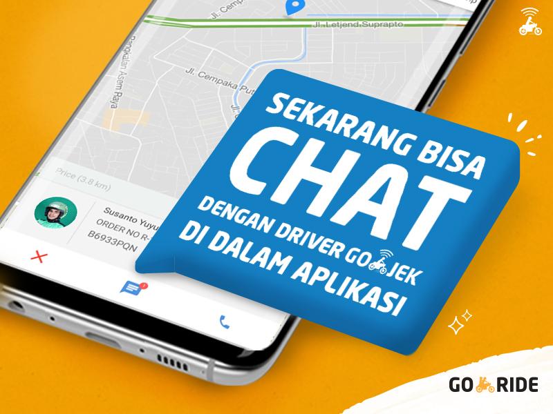Ini Dia yang Ditunggu! Bisa Chat dengan Driver GO-RIDE di dalam Aplikasi