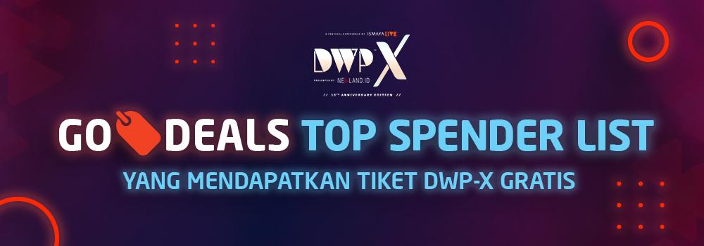 Selamat Kepada 19 Top Spender GO-DEALS Giveaway Berhadiah Tiket DWP 2018!