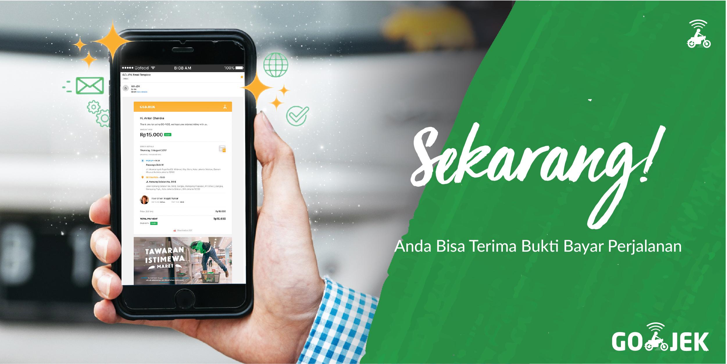Dapatkan Bukti Bayar Lewat Email Go Jek Go Jek Indonesia
