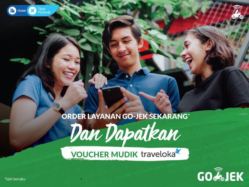Pakai Layanan GO-JEK Bisa Dapat Voucher Mudik dari Traveloka