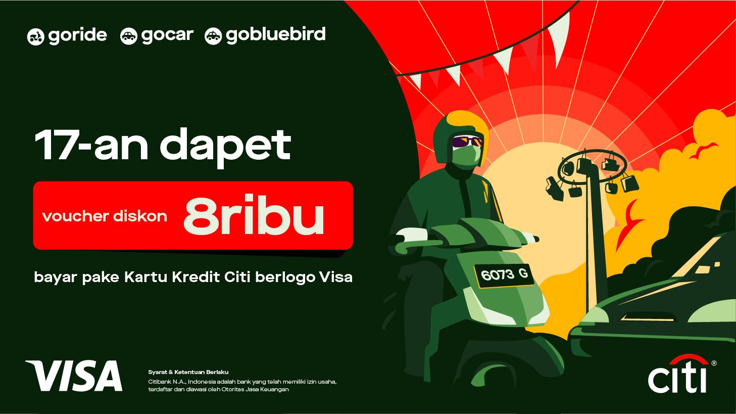 Promo Kartu Kredit Citibank Agustus 2020 Bonus Voucher Diskon Rp8 000 Gojek
