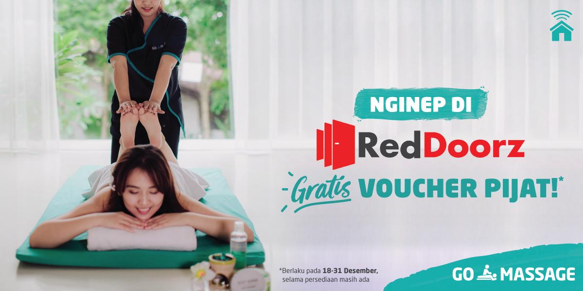 Voucher GO-MASSAGE untuk Kamu yang Menginap di RedDoorz!
