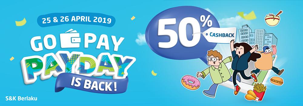 Promo GO-PAY PAY DAY April 2019: Cashback 50% di Mana-mana