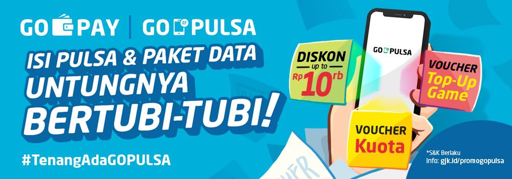 Promo GO-PULSA Juli 2019: Beli Pulsa, Banyak Untungnya!