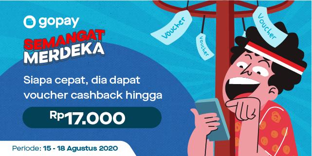 Promo Voucher Gopay Merdeka Dengan Voucher Cashback Hingga Rp17 000 Gopay
