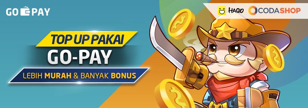 Top Up Hago Pakai GO-PAY di Codashop April 2019: 50% Diskon