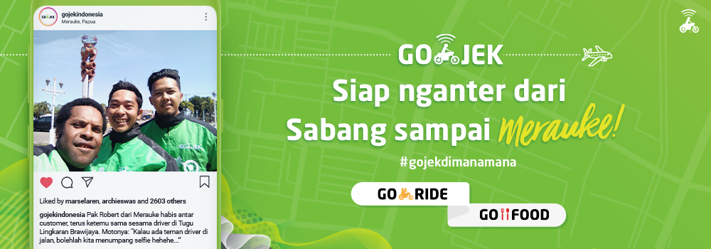 Kini GO-JEK Hadir di 167 Kota dan Kabupaten Indonesia