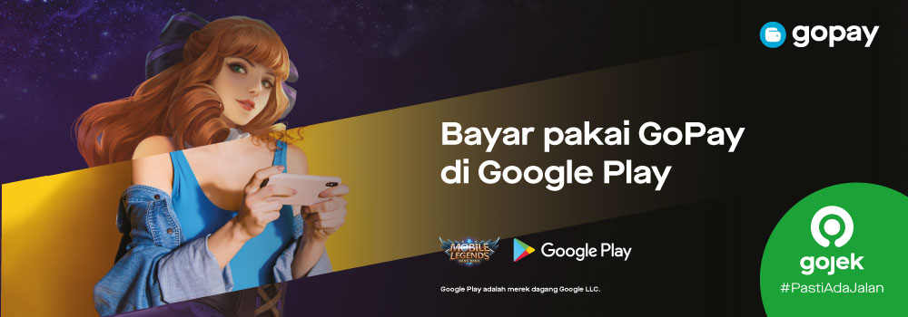 Top up Diamond Mobile Legends (ML) di Google Play: Cashback 100%!