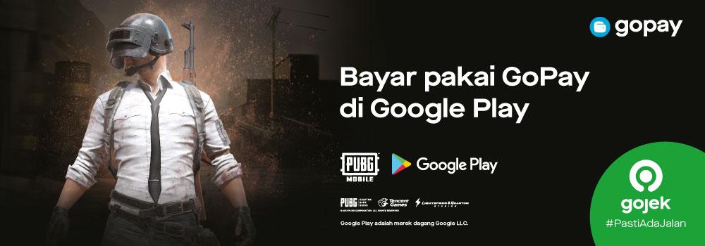 Top up UC PUBG Mobile di Google Play: Cashback 100%!