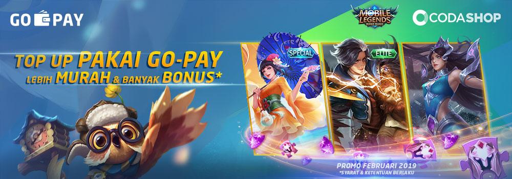Top Up Diamond Mobile Legends Pakai GO-PAY, Bonus Skin Permanen!