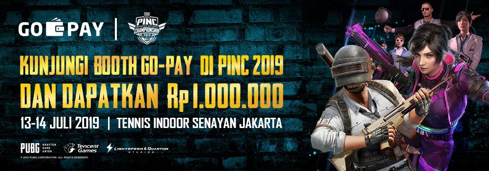 Datang ke Booth GO-PAY di PINC 2019 Bisa Dapat Saldo GO-PAY 1 Juta Rupiah