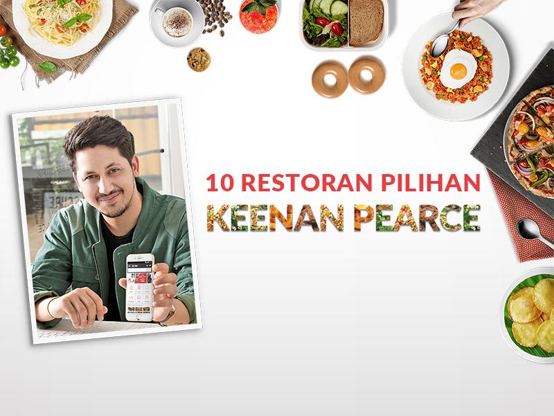 10 Restoran Terfavorit Keenan Pearce di GO-FOOD!