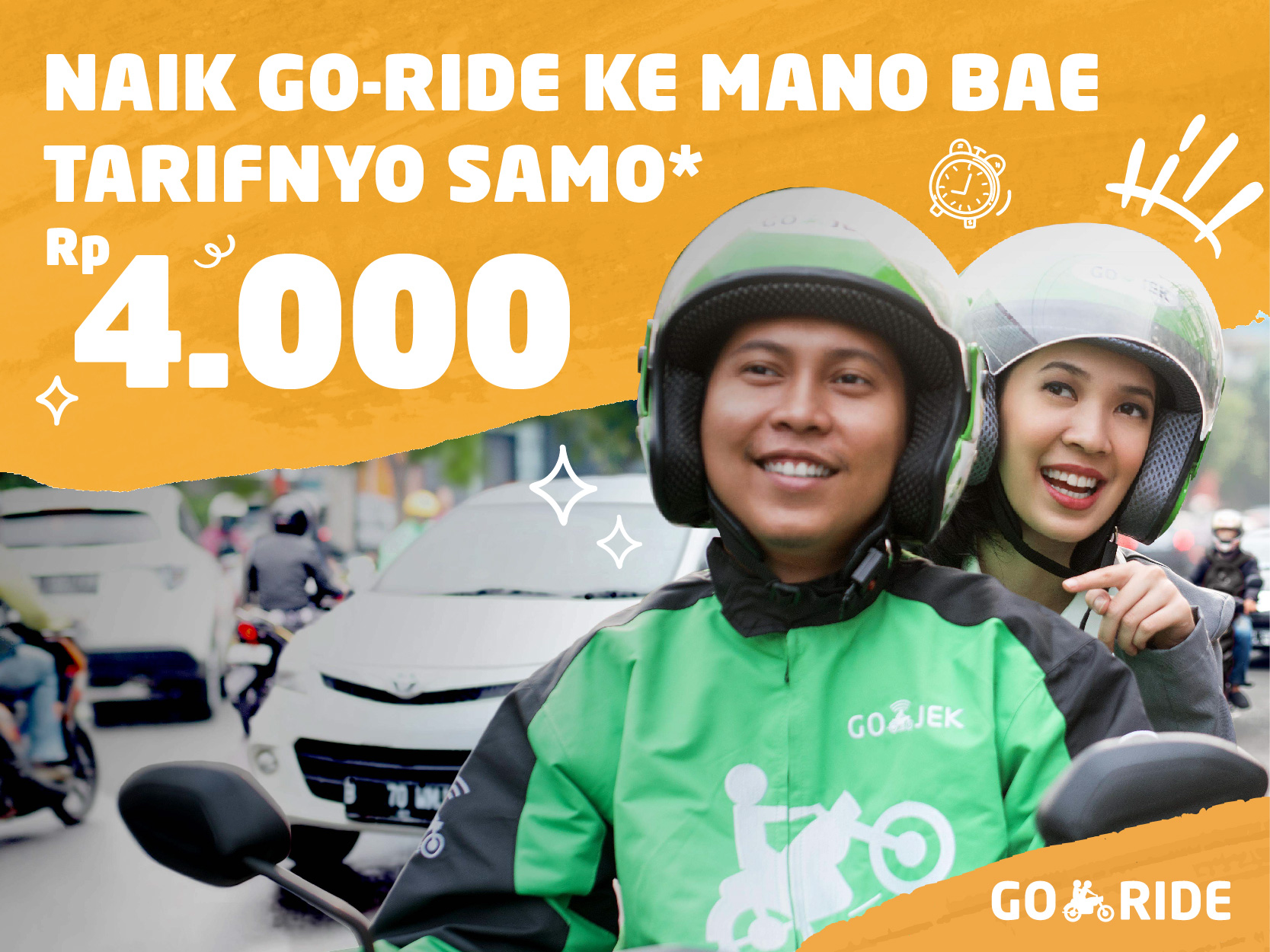 Promo GO-JEK Terbaru: Tarif Datar Rp4.000 di Kota Jambi