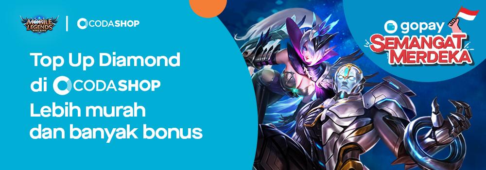Promo Top Up Mobile Legends (ML) (Agustus 2019): Cashback 20% & Legendary Skin di Codashop