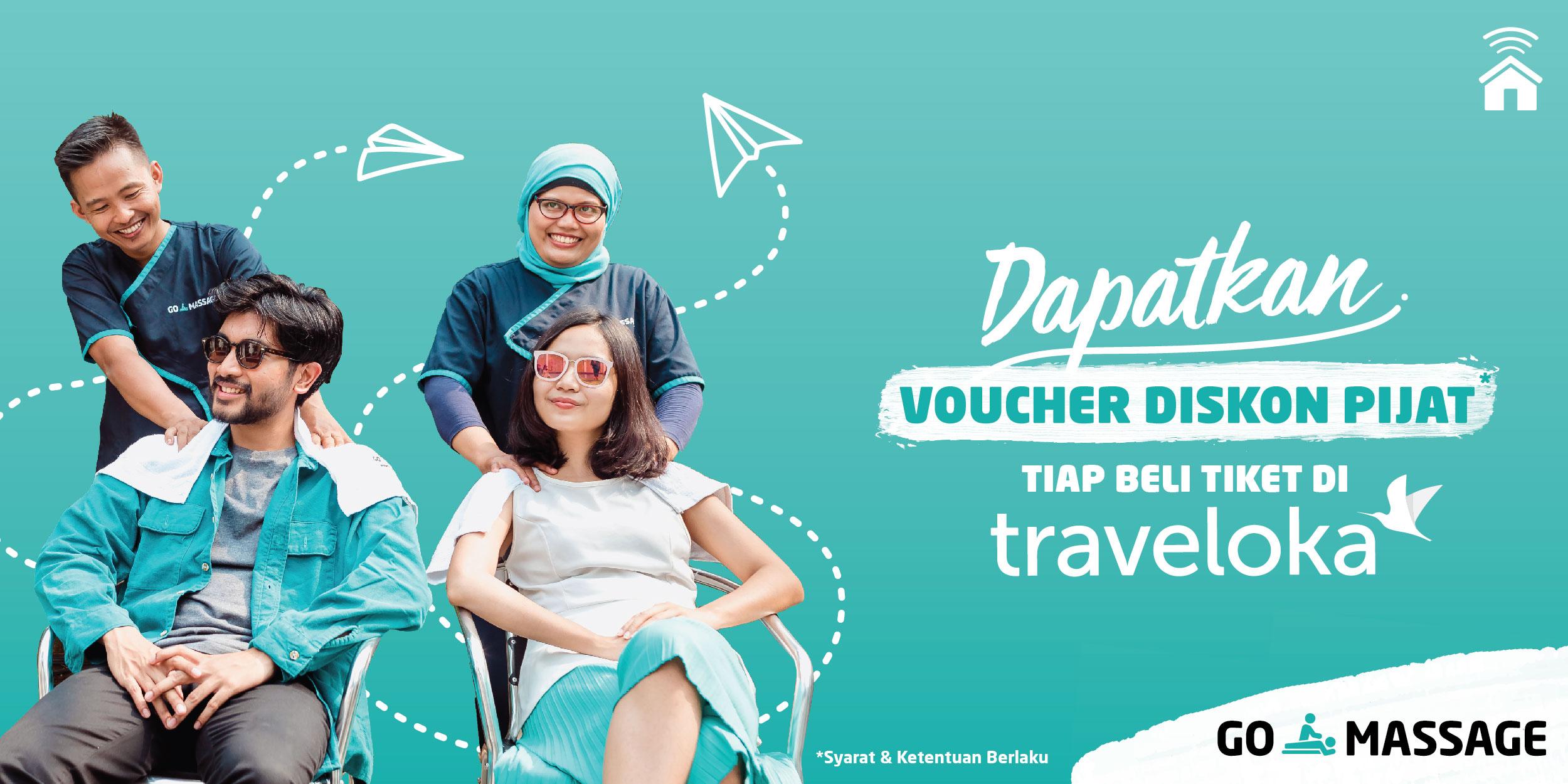 Dapatkan Voucher GO-MASSAGE Saat Beli Tiket Liburan!