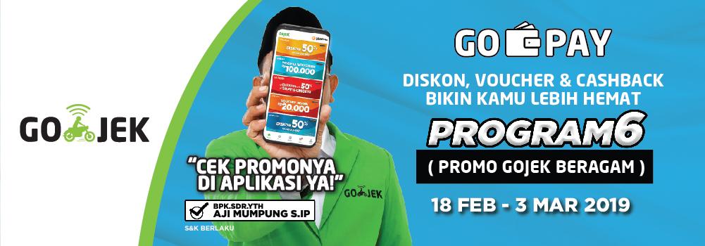 Program Gopay Diskon 75 Cashback 40 Gopay