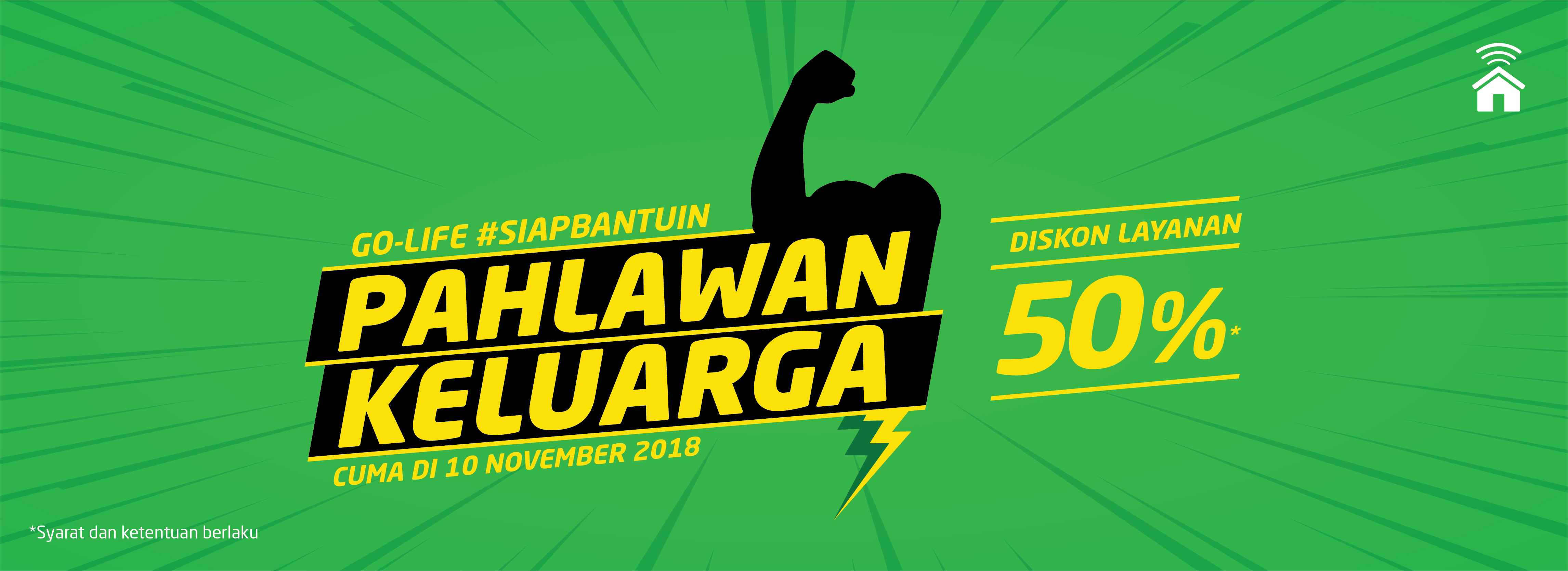 GO-LIFE #SiapBantuin Pahlawan Keluarga, Ada Diskon 50%!