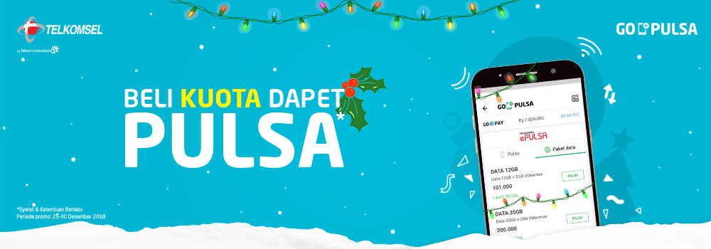 Promo Telkomsel Desember 2018: Beli Kuota Dapet Pulsa!