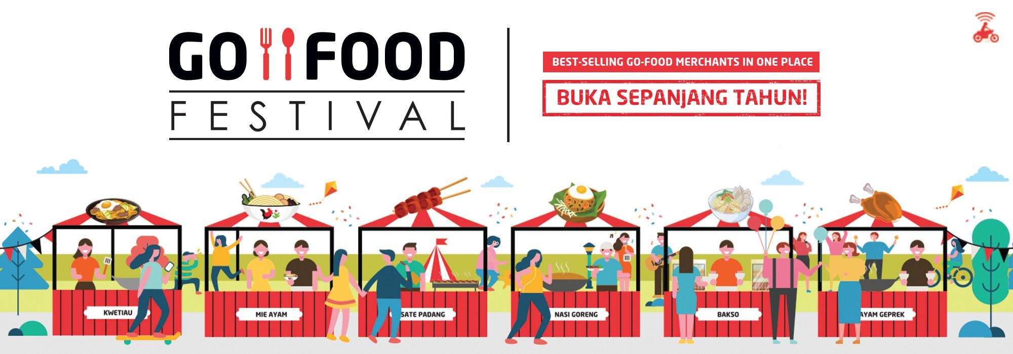 Nikmati Beragam Kuliner dari Ratusan Merchant Favorit Hanya di GO-FOOD Festival