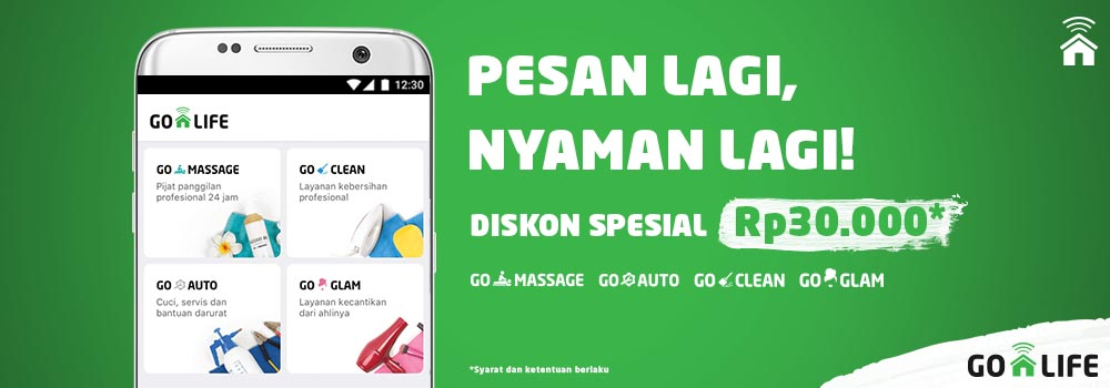 Pesan Lagi, Nyaman Lagi! Diskon Spesial GO-LIFE Rp30.000