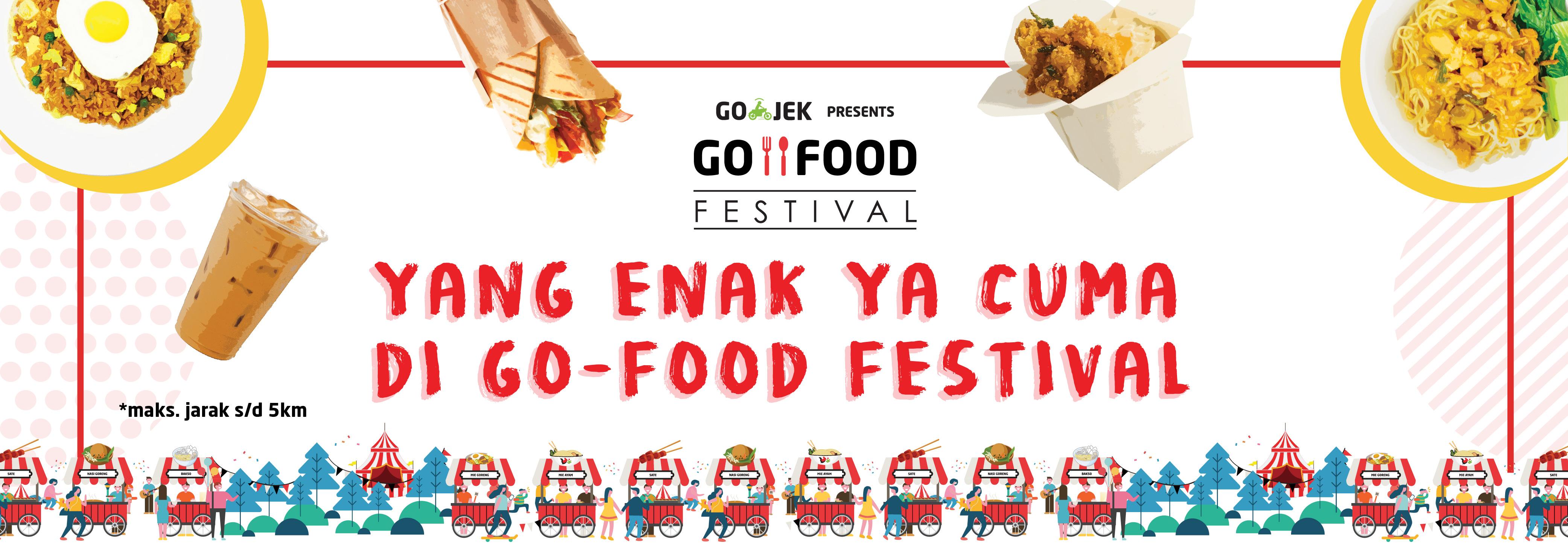 Nikmati Cashback Hingga 50% di GO-FOOD Festival Jakarta!