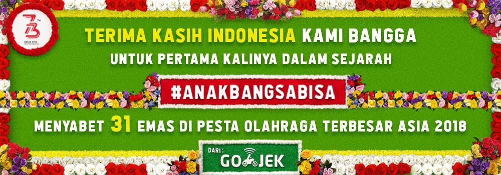 Terima Kasih, #AnakBangsaBisa Harumkan Nama Indonesia di Pesta Olahraga Terbesar Asia 2018
