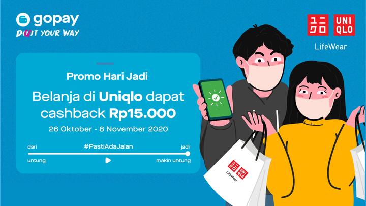 Promo Uniqlo Cashback Rp15 000 Gopay