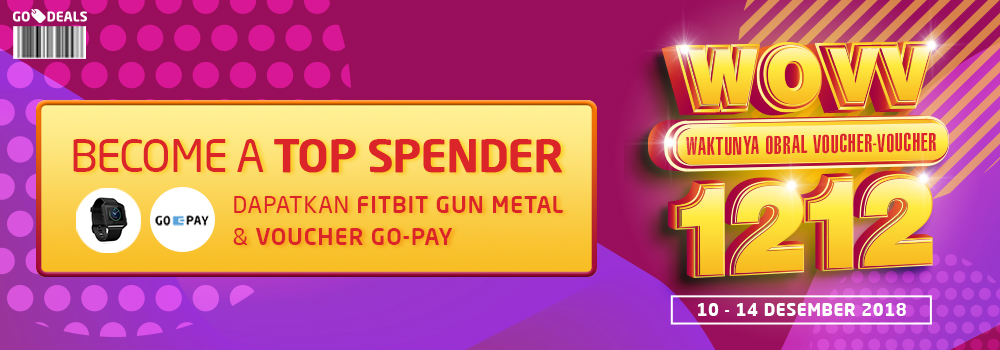 Top Spender GO-DEALS Harbolnas Edisi 14 Desember 2018