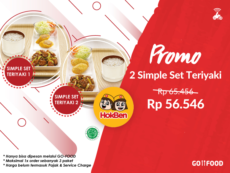 Pesan 2 Simple Set Teriyaki Hokben Lebih Hemat Di Go Food Gofood