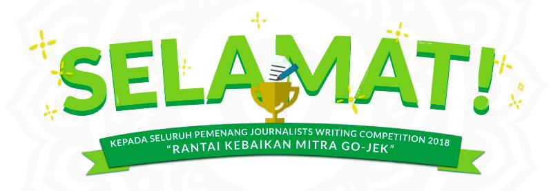 Pengumuman Pemenang Journalists Writing Competition 2018